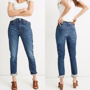 Madewell high rise slim boy jean eco edition pants